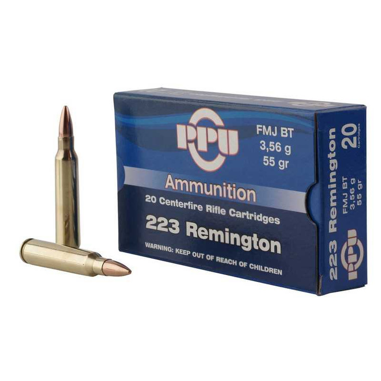 PPU Standard Rifle 223 REM Ammunition