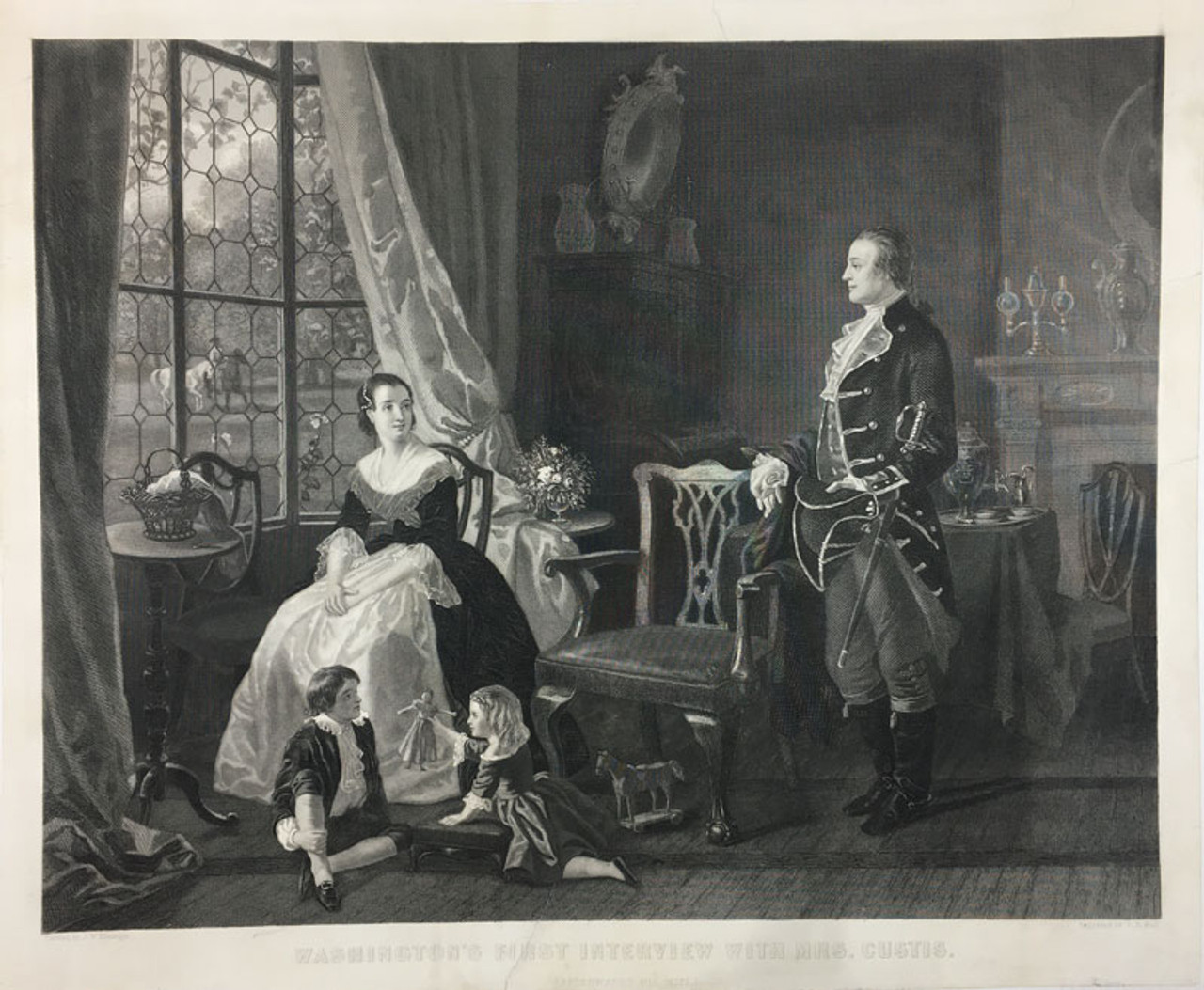 Washington's First Interview with Mrs. Custis
