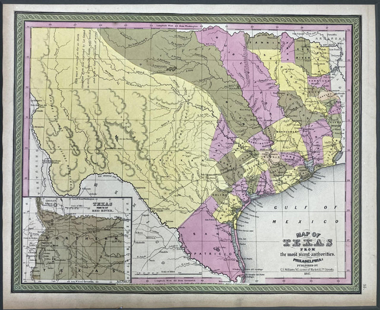 Map of Texas From the most recent authorities...