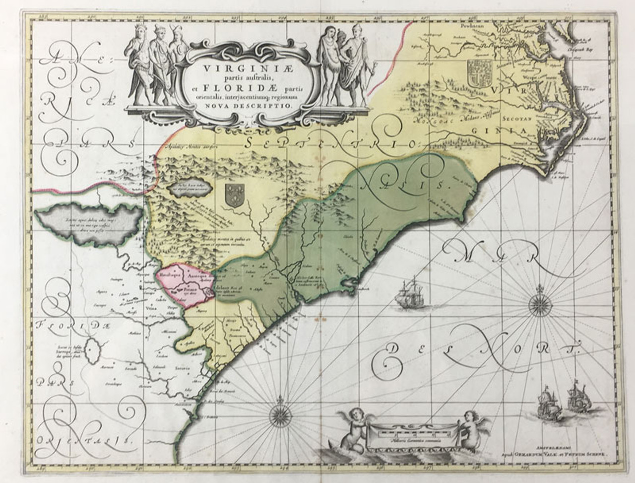 Virginie et Floridae Partis Orientalis Nova Descripto