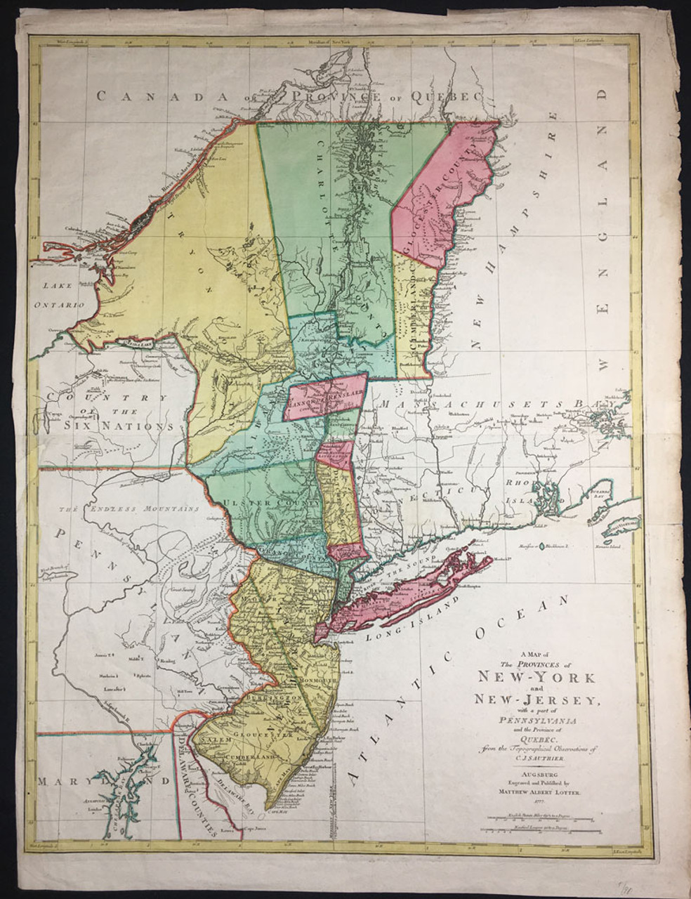 A Map of The Provinces of New York & New Jersey..Pennsylvania