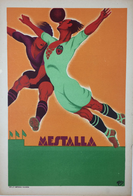 Mestalla Stock Poster for Soccer Leagues