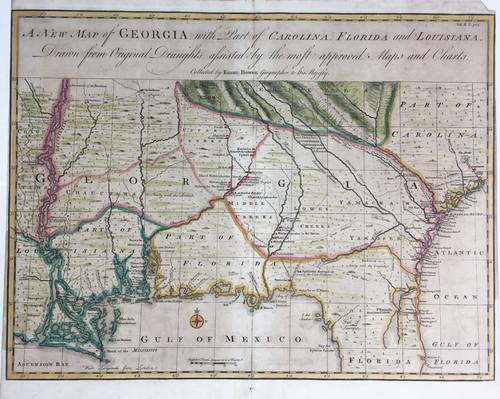 A New Map of Georgia, Carolina, Florida and Louisiana et al
