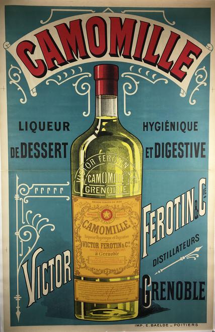 Camomille Liqueur by Imp. E. Baelde, 1890