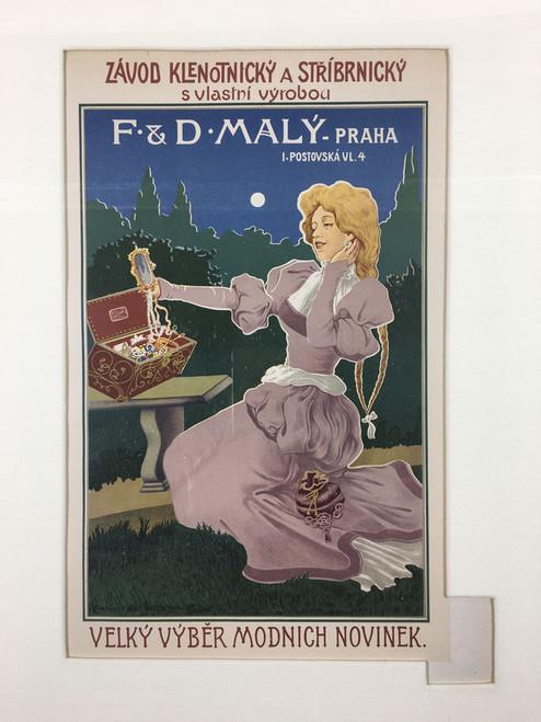Maitre de L'Affiche Plate 236 - F&D Maly Jeweler
