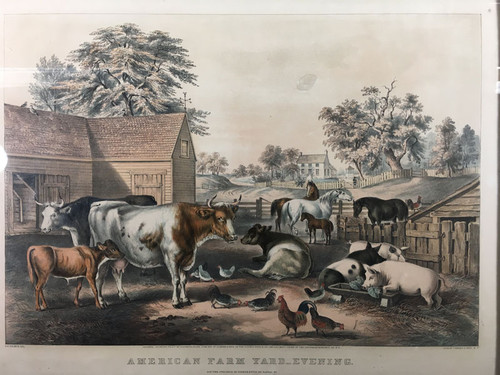 American FarmYard - Evening