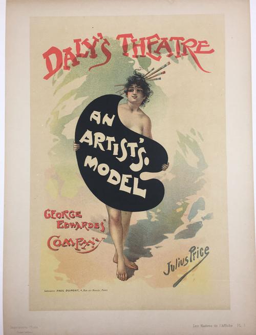 Maitres de L'Affiche Plate 3 (An Artist's Model) Julius Price