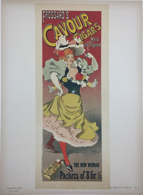 Maitres de L'Affiche Plate 7 - Frossard's Cavour Cigars