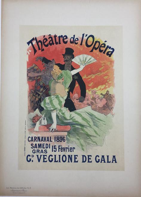 Maitres de L'Affiche Plate 9 - Theatre de l'Opera