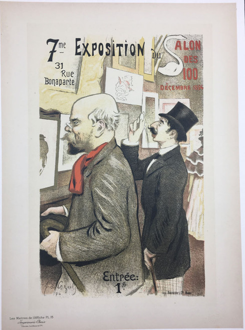 Maitres de L'Affiche Plate 15 - Seventh Exhibition Salon des Cent