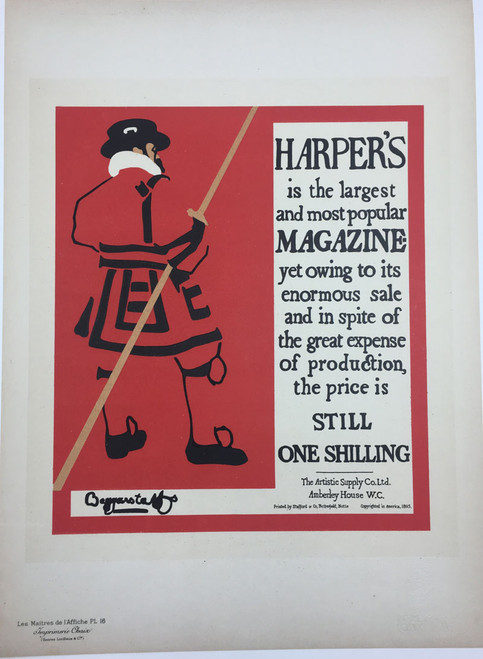 Maitres de L'Affiche Plate 16 - Harper's Magazine