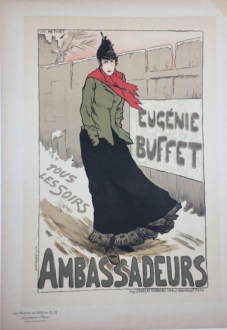 Maitres de L'Affiche Plate 22 - Eugenia Buffet Ambassadeurs