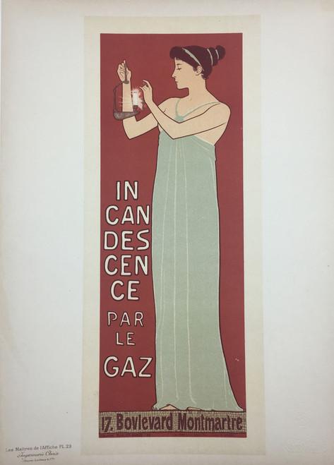 Maitres de L'Affiche Plate 23 - Incandesence par le Gaz