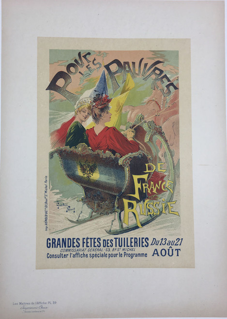 Maitres de L'Affiche Plate 39 - Pour les Pauvres de France et Russie