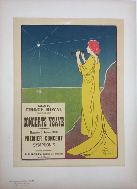 Maitres de L'Affiche Plate 40 - Salle du Cirque Royal Brussels