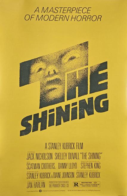 The Shining Original movie poster on linen