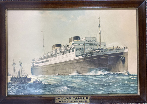 M V Britannic World's Largest Cabin Liner White Star Line