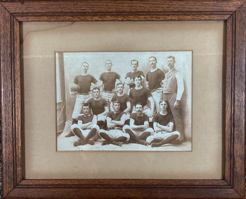 Antique Albumen Photograph Early Basketball Team