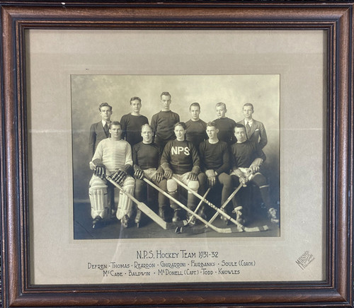 Vintage Photograph NPS Hockey Team 1931-1932