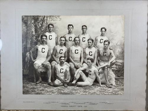 Antique Silver Gelatin Photograph Cornell Varsity Crew