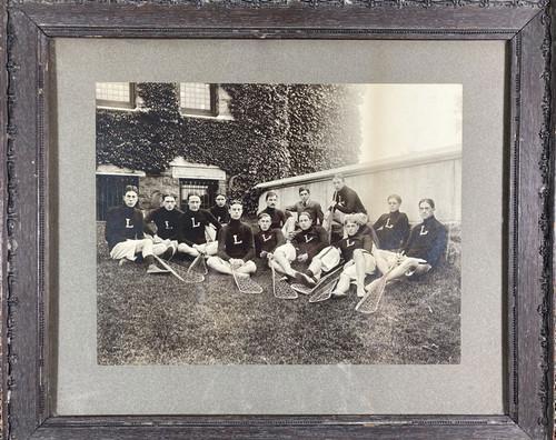Original silver gelatin of late 19th century Lehigh Lacrosse Team