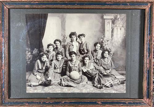 Antique Silver Gelatin Photograph Stillwater Girls Basketball Team