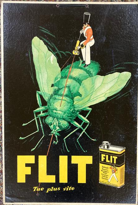 Original ca.1920-1930 cartone advertising Flit insecticide for sale