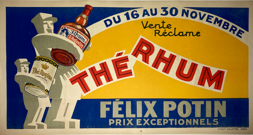 Original stone lithograph 1930 advertising The Rhum for sale
