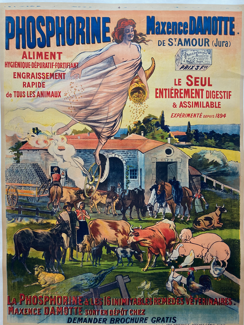 Phosphorine Remedes Veterinaires 1905 Lobel Riche on linen
