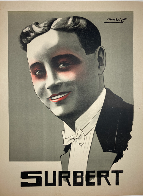 Surbert Original stone lilthograph 1920 Andre B on linen