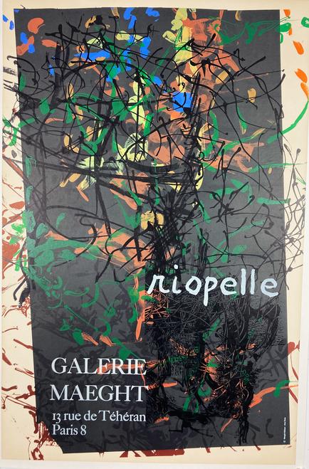 Jean Paul Riopelle Exhibit original lithograph on linen 1970