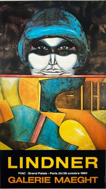 Lindner Painting Exhibit Galerie Maeght original lithograph 20th century