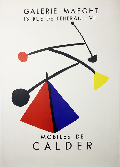 original exhibit poster Galerie Maeght for Alexander Calder 1954