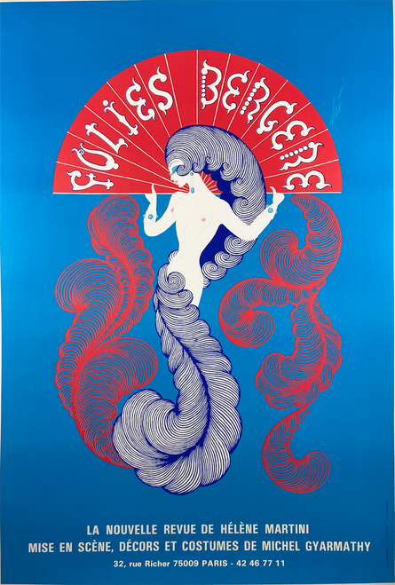 Original lithograph by Erte advertising Folies Bergere for sale