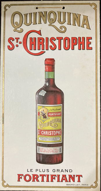Original cartone with string advertising Quinquina early 20th century for sale