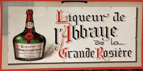 Original horizontal cartone advertising liqueur for sale