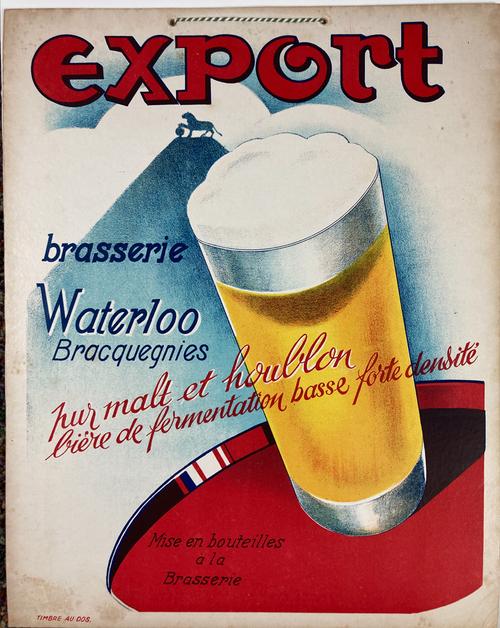 Original cartone advertising Expoirt Belgian beer for sale