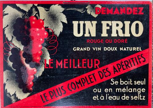 Original antique french cartone advertising apertifs for sale