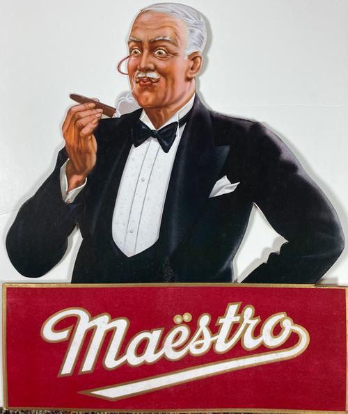 Original antiquencartone advertising Maestro cigars for sale