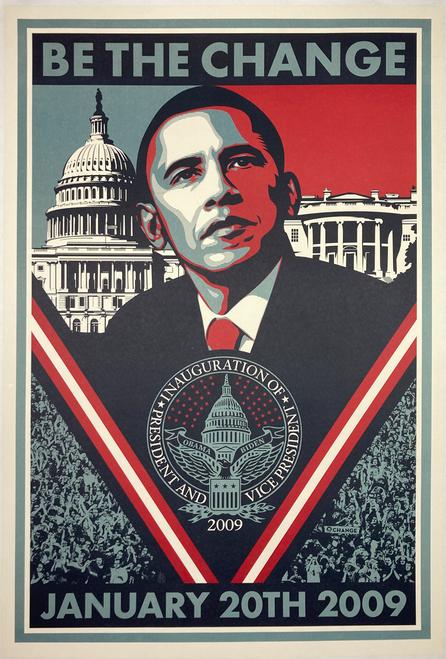 Original lithograph Obama's 2009 Presidential inauguration
