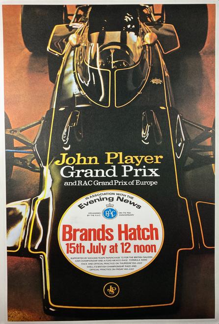 Original 1983 lithograph advertising John Player Grand Prix auto race