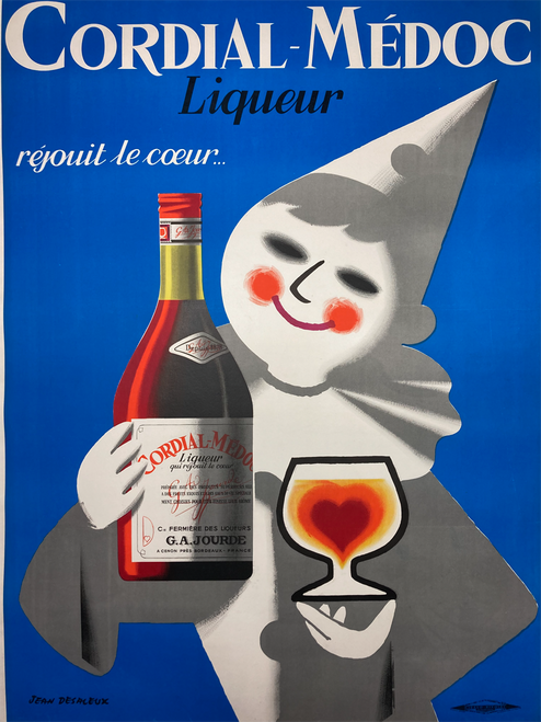Original lithograph advertising Cordial-Medoc Liqueur