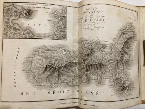 Original engraving of Elba 1801 1 of 14 maps Precis Des Evenemens Militaires (Napoleon's victories in central Europe)