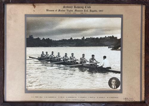 Vintage Photograph Sydney Rowing Club