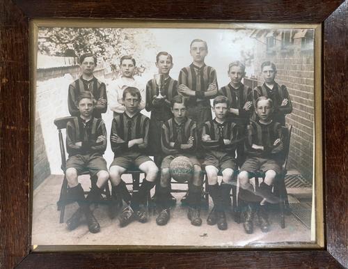 original photograph school boy soccer team winner 1924