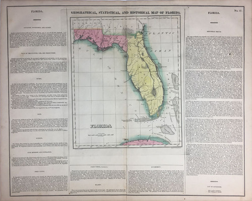 Geographical, Statistical & Historial Map of Florida Territory in 1821