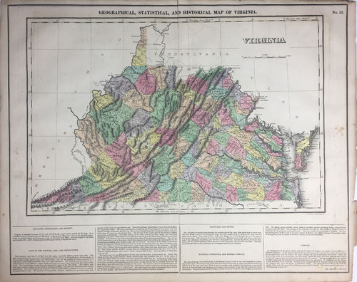 Geographical, Statistical & Historial Map of Virginia