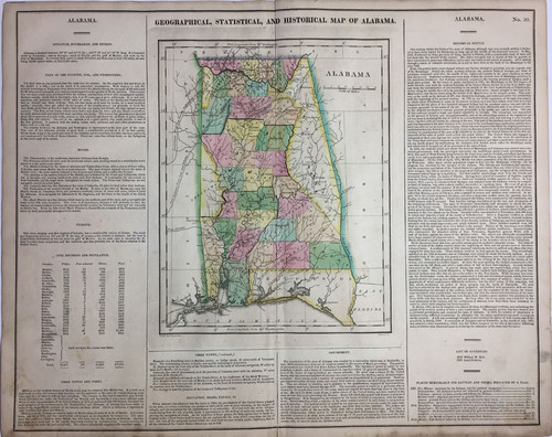 Geographical, Statistical & Historial Map of Alabama