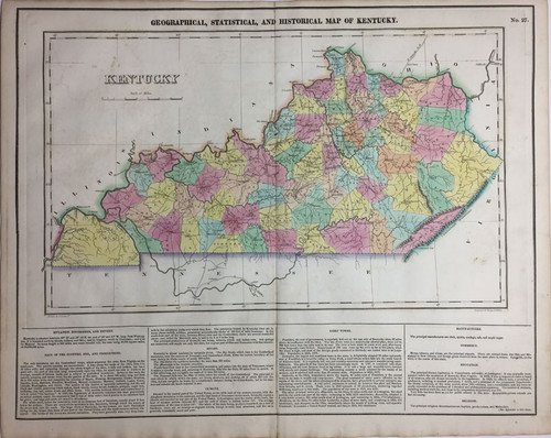 Geographical, Statistical & Historial Map of Kentucky