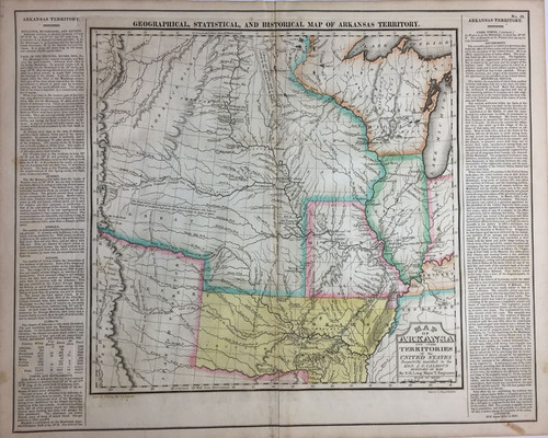 Geographical, Statistical & Historial Map of Arkansas Territory